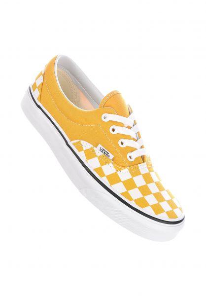 Vans Alle Schuhe Era Classic checkerboard yolkyellow-truewhite vorderansicht 0610463