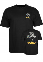 Powell-Peralta-T-Shirts-Skateboard-Skeleton-black-Vorderansicht