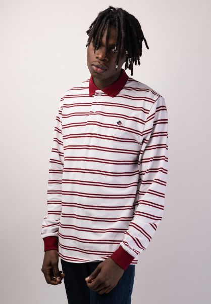 burgundy long sleeve polo shirt
