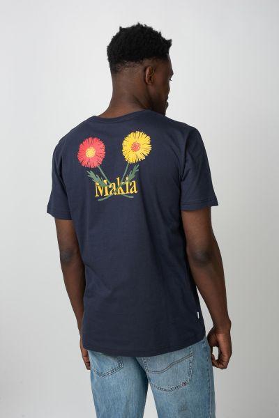 Makia T-Shirts Madeira darkblue vorderansicht 0321413