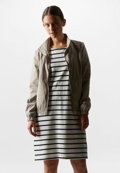 Wemoto Kleider Loner Striped offwhite-navyblue vorderansicht 0801439