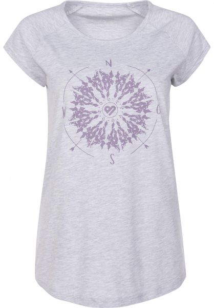 TITUS T-Shirts Whereever lightheathergrey Vorderansicht