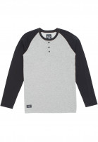 The-Berrics-Longsleeves-Reyes-greymottled-black-Vorderansicht