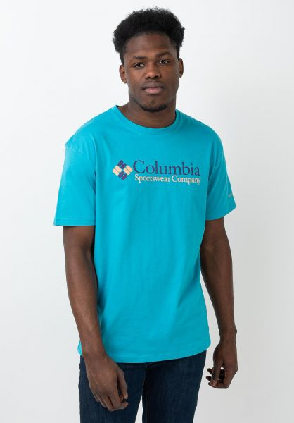 Columbia T-Shirts CSC Basic Logo clearwater vorderansicht 0321488