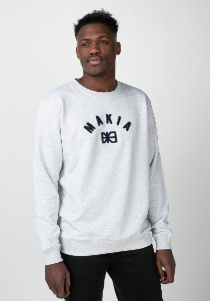 Makia Sweatshirts und Pullover Brand lightgrey vorderansicht 0422794