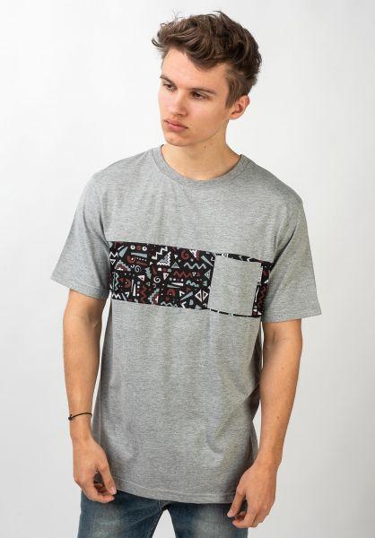 iriedaily T-Shirts Theodore Pocket greymelange vorderansicht 0321466