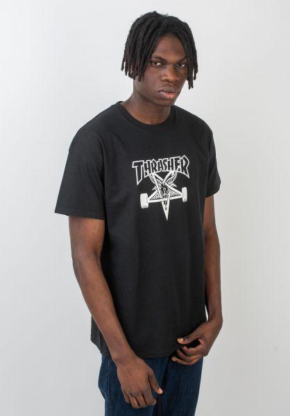 Thrasher T-Shirts Skate Goat black vorderansicht 0037028