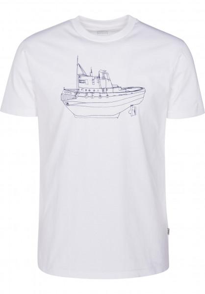Cleptomanicx T-Shirts Tugger white Vorderansicht