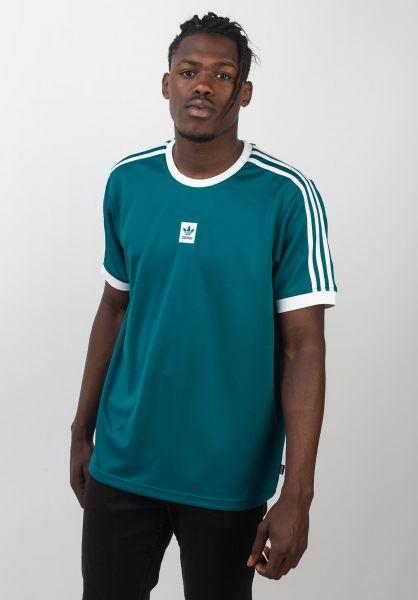 adidas-skateboarding T-Shirts Club Jersey activeteal-white vorderansicht 0399746