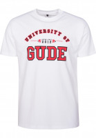 GUDE T-Shirts University white Vorderansicht