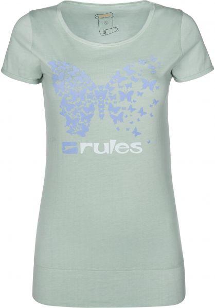 Rules T-Shirts Swirling frostgreen Vorderansicht