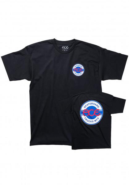 Ace T-Shirts Round Logo black Vorderansicht