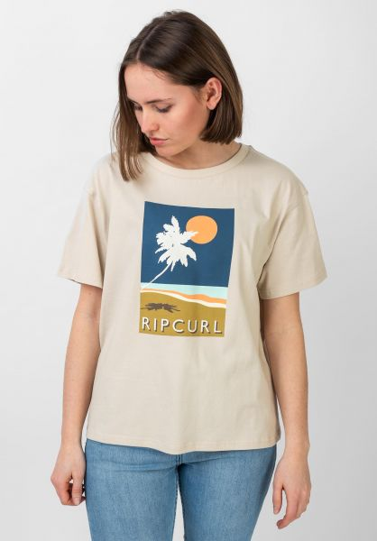 Rip Curl T-Shirts Sunsetters stone vorderansicht 0321164