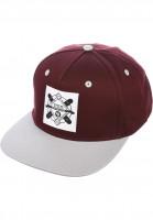 TITUS Caps Emblem Snapback burgundy-grey Vorderansicht