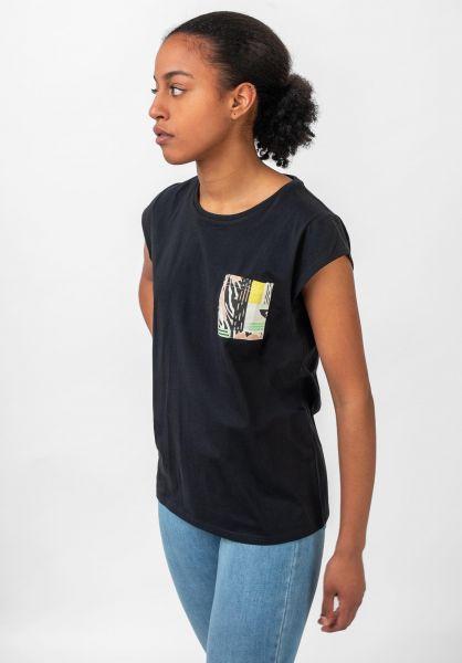 TITUS T-Shirts Grafik Pocket black vorderansicht 0397415