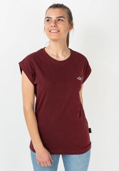 Ezekiel T-Shirts Paperboat D burgundy vorderansicht 0322321