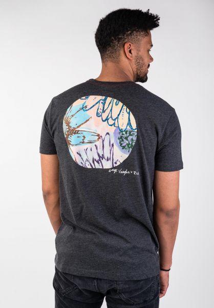 RVCA T-Shirts Vaughn black vorderansicht 0399890