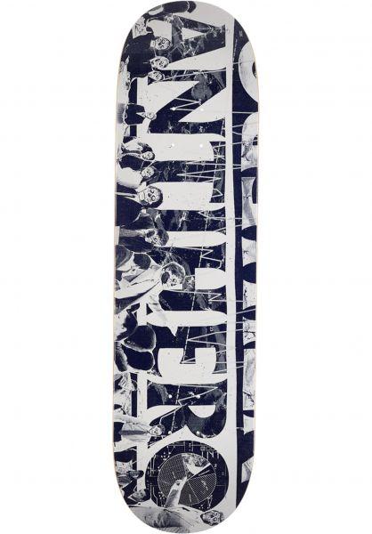 Anti-Hero Skateboard Decks Third Quarter white-blue Vorderansicht