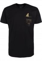 Captain-Fin-T-Shirts-Shark-Fin-Premium-Pocket-black-green-Vorderansicht