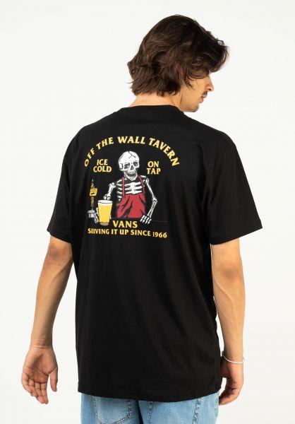 Vans T-Shirts Off The Wall Tavern black vorderansicht 0324238