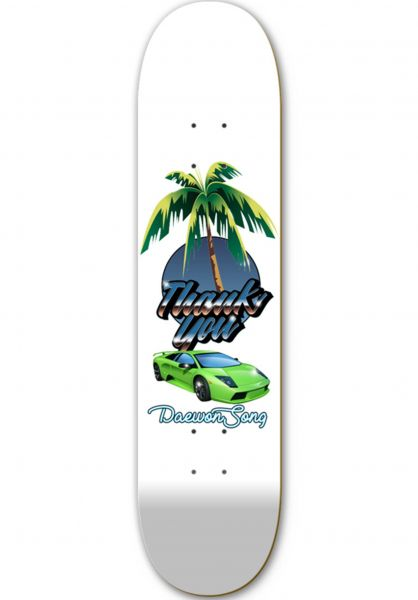 Thank You Skateboards Skateboard Decks Deawon Lambo Days white vorderansicht 0261685