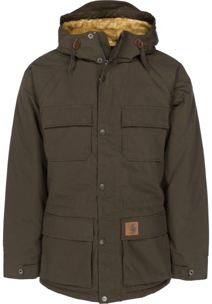 Carhartt WIP Winterjacken Mentley Jacket cypress Vorderansicht 0250009