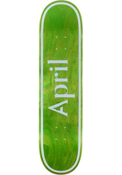 April Skateboards Skateboard Decks OG Logo invert-green vorderansicht 0266691