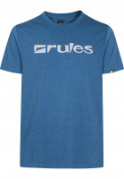 Rules T-Shirts Basic lakebluemottled Vorderansicht