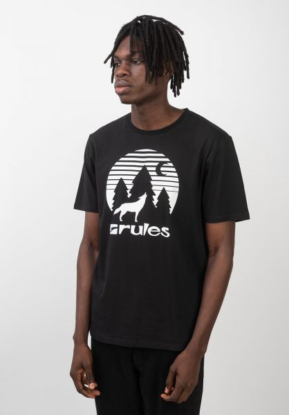 Rules T-Shirts Lone Wolf black vorderansicht 0399282