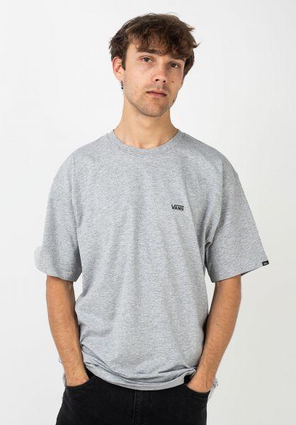 Vans T-Shirts Left Chest Logo athleticheather vorderansicht 0397675