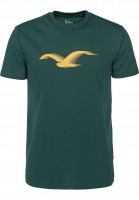 Cleptomanicx T-Shirts Athletic Möwe ponderosapine Vorderansicht