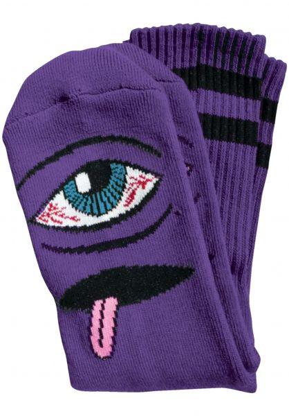 Toy-Machine Socken Bloodshot-Eye purple vorderansicht 0630349