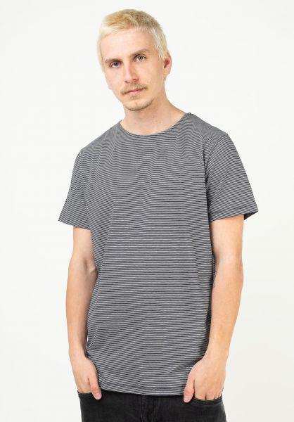 Forvert T-Shirts Elias darknavy-beige vorderansicht 0320131