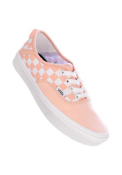 Vans Alle Schuhe Authentic Comfy Cush checkerboard spanish-villawhite vorderansicht 0612504