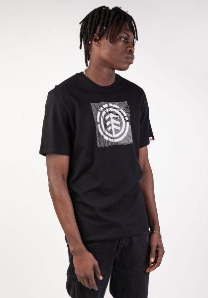 Element T-Shirts Driftwood flintblack vorderansicht 0399810