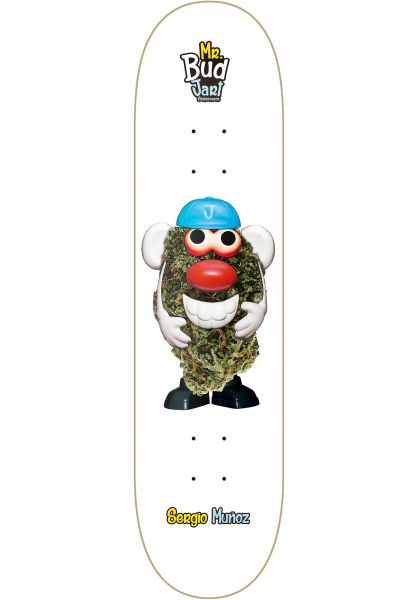 JART Skateboard Decks Mr Bud II white Vorderansicht