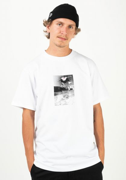 TITUS T-Shirts Heelflip white vorderansicht 0320915