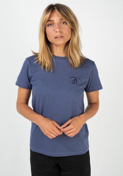 Carhartt WIP T-Shirts W´ Reverse Midas coldviola-black vorderansicht 0322186