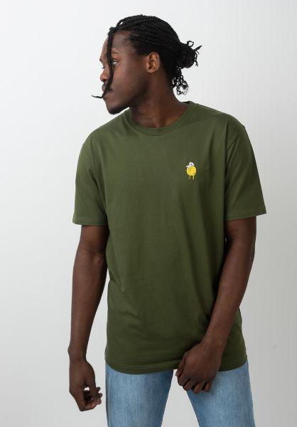 Cleptomanicx T-Shirts Zitrone rifflegreen vorderansicht 0321160
