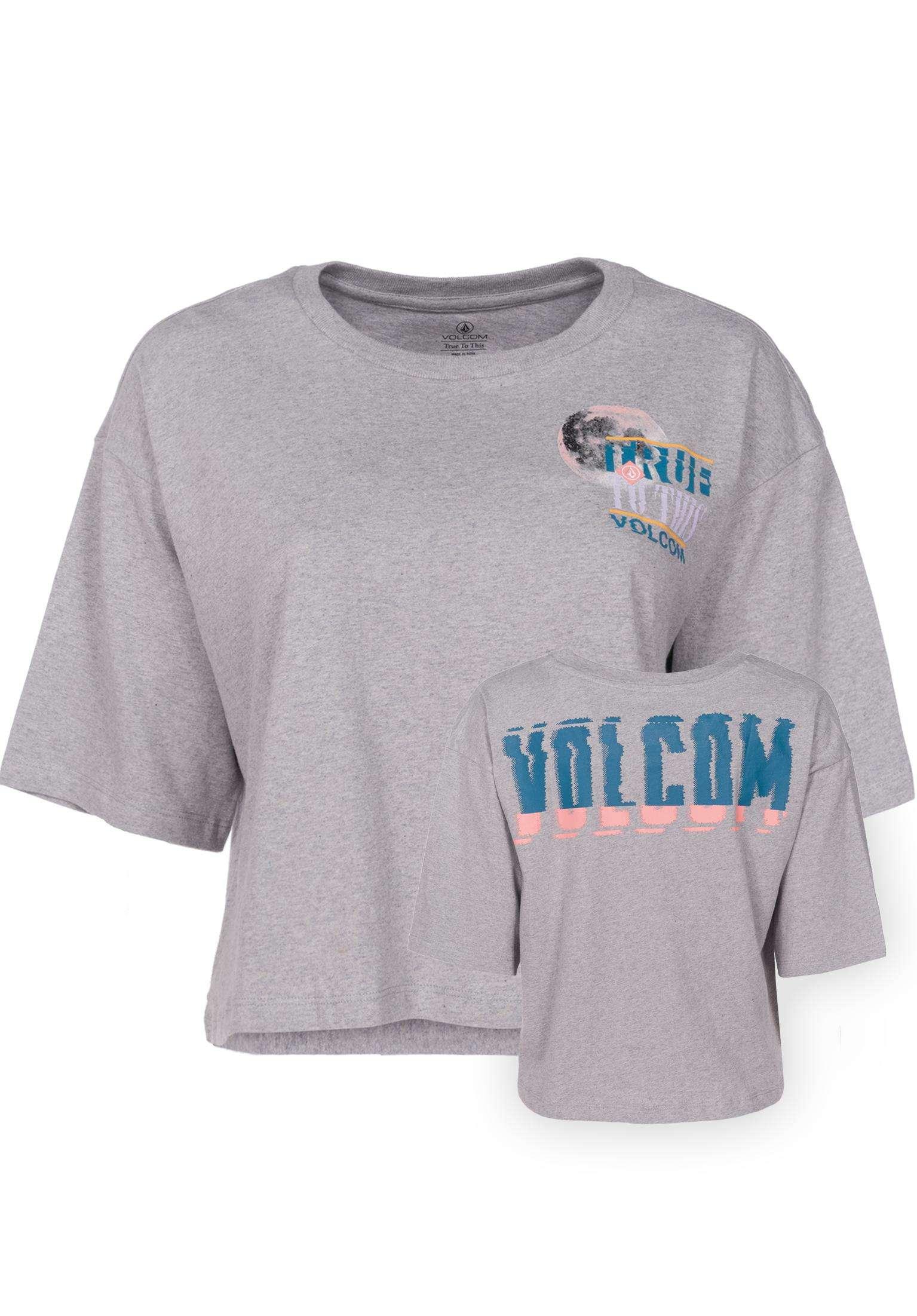 Super Stoned Volcom T-Shirts in heathergrey für Damen   Titus 370ae770cd