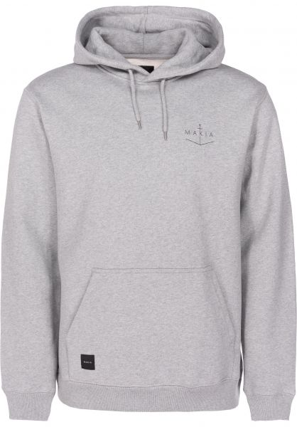 Makia Hoodies Angle grey vorderansicht 0445154
