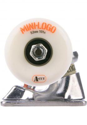 """Mini-Logo 8.38"""" white A-Cut Wheels 101A"""