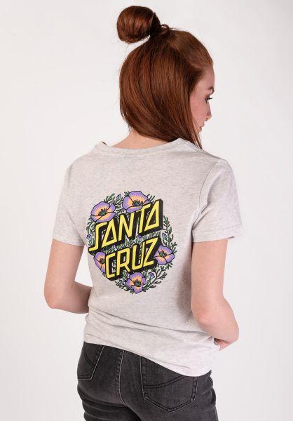 Santa-Cruz T-Shirts Poppy Dot athleticheather vorderansicht 0399437
