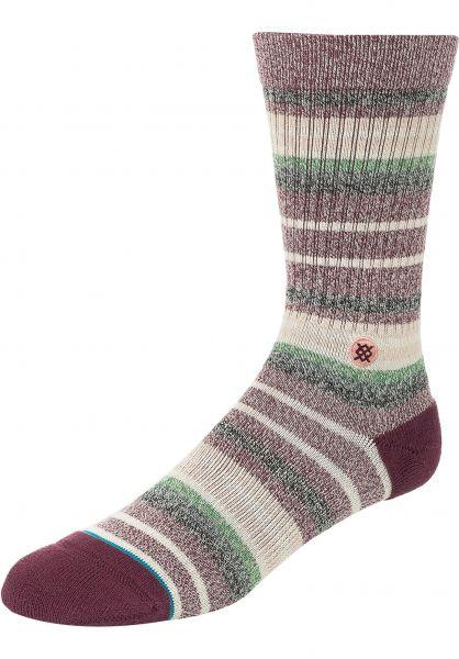 Stance Socken Thirri maroon vorderansicht 0632014