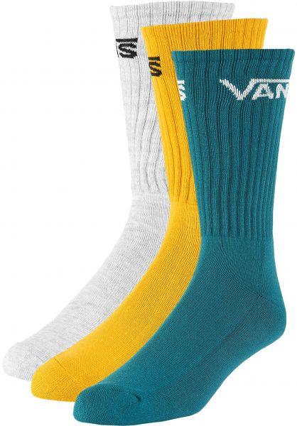Vans Socken Classic Crew 3 Pack goldenglow vorderansicht 0631004