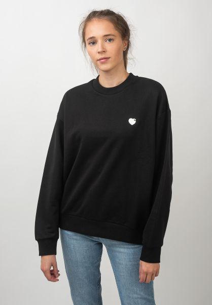 Carhartt WIP Sweatshirts und Pullover W´ Hartt black-wax vorderansicht 0422844