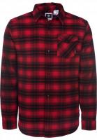 adidas-skateboarding Hemden langarm Stretch Flannel scarlet-black Vorderansicht
