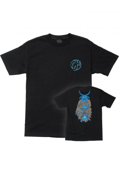 OJ Wheels T-Shirts Figgy Lightning black vorderansicht 0383125