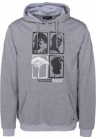 Mahagony Hoodies Legends greymelange-black-white Vorderansicht