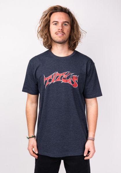 TITUS T-Shirts Schranz deepnavymottled vorderansicht 0373578